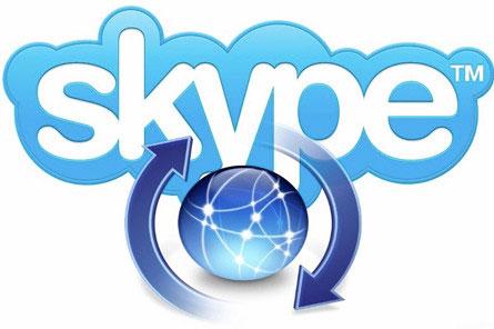 обмен данными в скайпе
