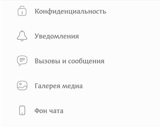 пункт «Вызовы и сообщения»