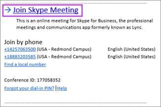 ссылка Join Skype Meeting