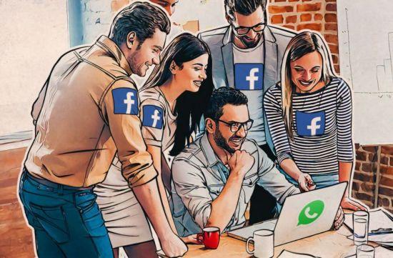 пользователи Facebok используют мессенджер