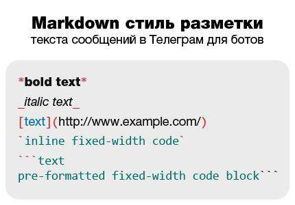 форматирование с помощью бота