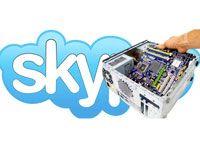 лагает Skype