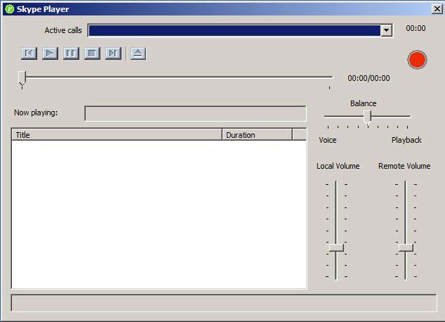 панель Skype Audio Player
