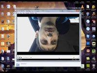 видео в скайпе вверх ногами
